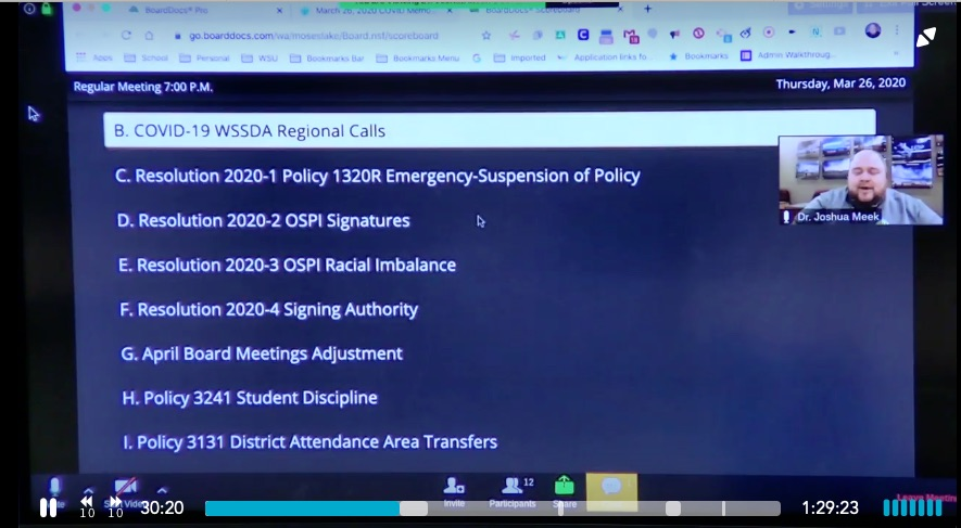 Moses Lake Zoom Meeting Screenshot